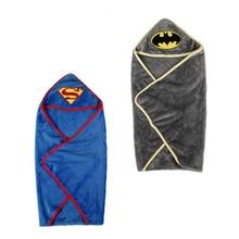 Удобный халат для новорожденного Супермен Бэтмен младенец одеяло дети с капюшоном банное полотенце для новорожденного