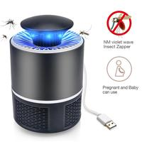 UV Mosquito Killer Lamp LED USB Electric Power Violet Wave Insect Zapper Mute Kill Pest Lamps For Outdoor Bedroom Sleep Light