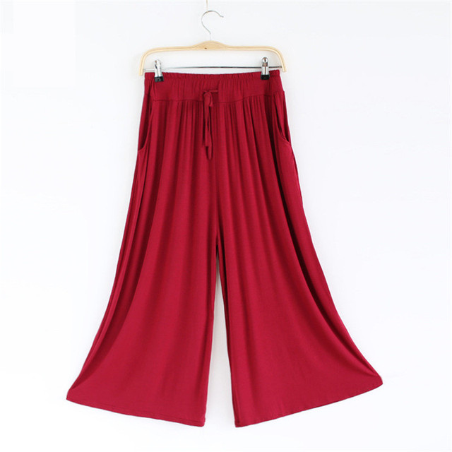 Wide Leg Pants Loose Casual Pant Women Skirt Pants Baggy Pant Women Modal Womens Trousers Elegant 9 Colors
