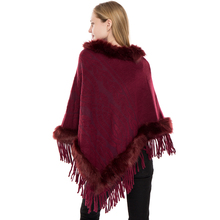 все цены на fur shawl poncho pullover acrylic cape sweater out clothing knitted cardigan sweater coat shawls capes wraps women fur collar