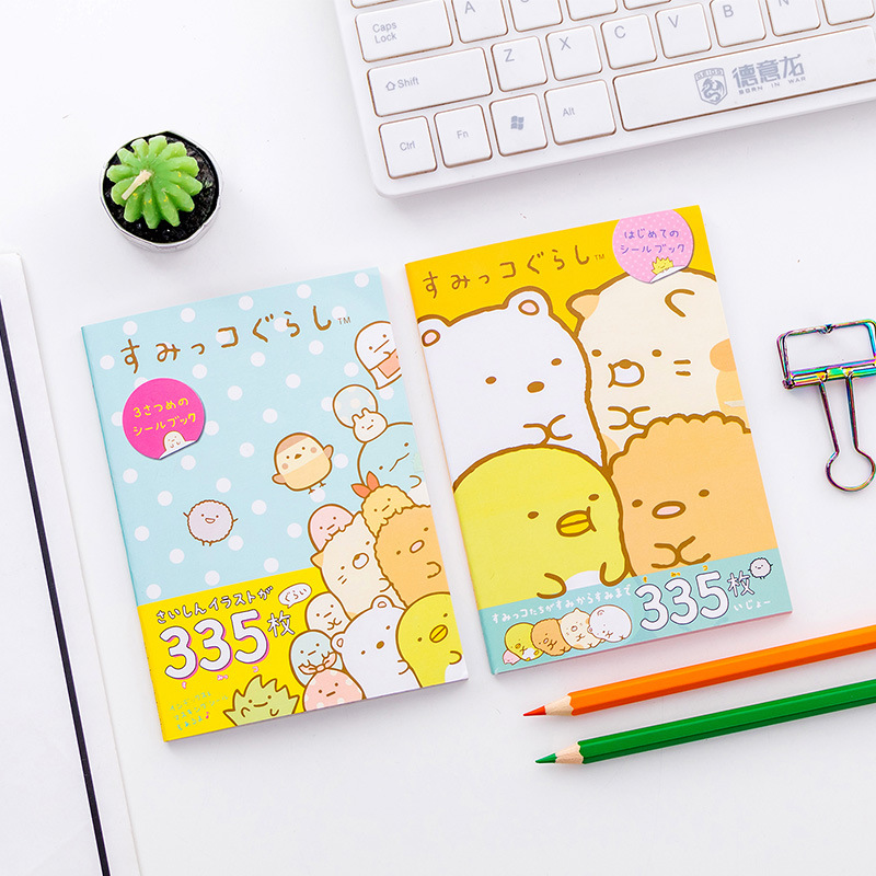335 Pcs/pack Japanese Style Sumikko Gurashi Book Decorative Washi Stickers Scrapbooking Stick Label Diary Album Stickers