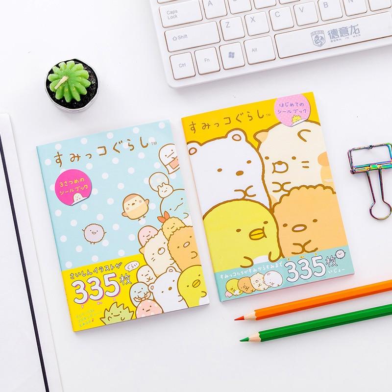 335 Pcs/pack Japanese Style Sumikko Gurashi Book Decorative Washi Stickers Scrapbooking Stick Label Diary Album Stickers