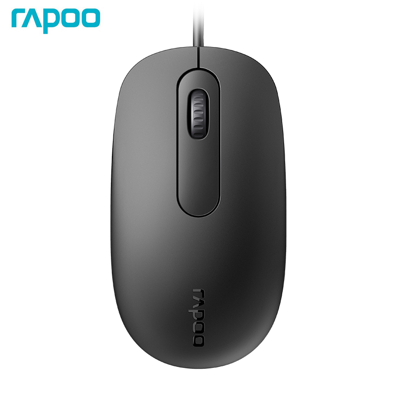 New Rapoo N200 Wired Optical Gaming Office Mouse With 1000DPI For PC Computer Home Office