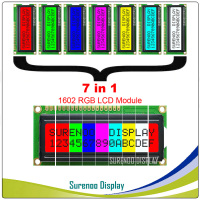 7 Mode RGB Backlight, FSTN Positive Mode (RGB on Black) 162 16X2 1602 Character LCD Module Display Screen LCM in 5.0V
