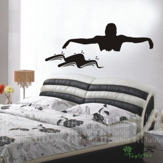 swimming wall stickers sports wall decors swimming wall decal bedroom home decorationchina - Sports Wall Stickers For Bedrooms