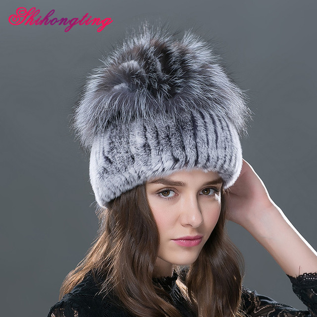 765b3bae9ac 2016 Novelty Warm Fur Skullies Beanies For Women African Braids Cap Rabbit  Fur Thick Hat Winter Hats Paisley Tampas TM-12