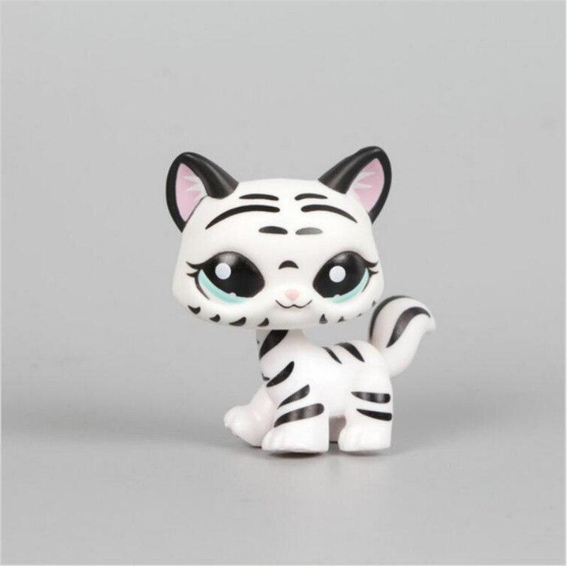 ᑐPet shop negro y blanco a rayas gatito colección Niño figura Linda ...