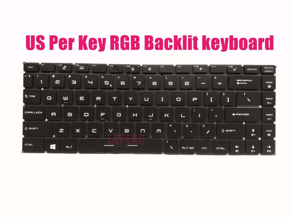 New Us Per Key Rgb Backlit Keyboard For Msi Gs65 8se 8sf 8sg Stealth Thin 8re 8rf Replacement Keyboards Aliexpress