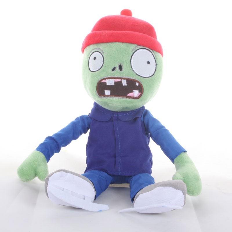 30cm Plants Vs Zombies Zombie Cosplay Plush Toys PVZ Ice Skating Zombie Plush Toy Doll Soft Stuffed Toys Gifts For Kids Children