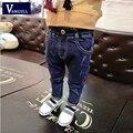Venta CALIENTE de Los Niños caen 2016 nuevos muchachos de la manera Coreana pantalones vaqueros rasgados de marea de la moda