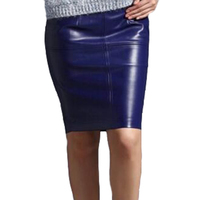 New Arrivals 2015 Autumn Winter Women Slim Pencil Skirts To The Knee Casual Brand Euro Pu
