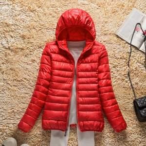 Image 3 - Новинка 2019 года; сезон осень зима; ультра легкий пуховик для женщин; ветрозащитные теплые женские легкие пуховые пальто; большие размеры; парки