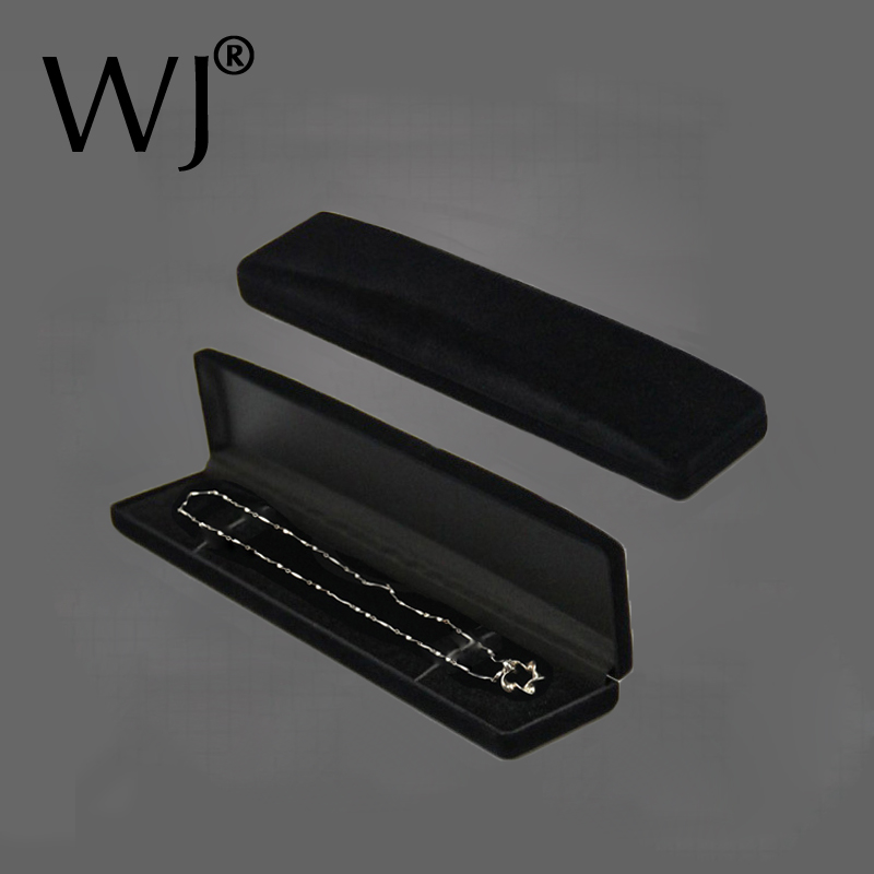 12 CLASSIC NECKLACE GIFT BOX  VELOUR BOX JEWELRY BOX BLACK NECKLACE BOX LOT OF