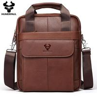 Head Layer Cowhide Men's Shoulder Bag Business Crossbody Bag Male Messenger iPad Bag Classic Design Handbag Travel Bag for Men