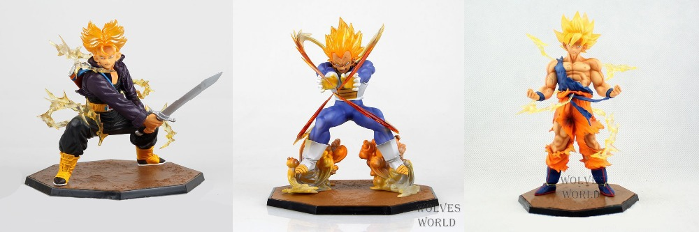 New Dragonball Z Dragon Ball DBZ Anime Goku Vegeta Trunks super saiyan 13-17cm Action Figure Toys original box dragonballz 1 pcs anime dragon ball z toy figure super saiyan goku pvc action figures big size dragonball model toys for boys kids wholesale