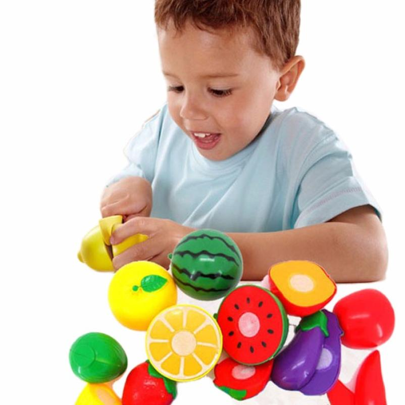 1Set Cutting Fruit Vegetable Pretend Play Children Kid Educational Toy 100% brand new and high quality Education Toy