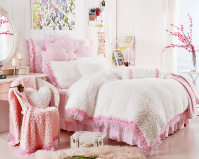 rosa set copripiumino promozione-fai spesa di articoli in ... - Copripiumino Bianco E Rosa