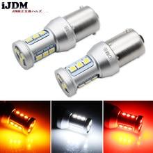 IJDM – ampoules de voitures P21W LED 1156 BA15S 7506, feux de voiture 1200Lm, clignotant, feu de stop inversé, R5W 3030 LED, lampe automobile 12V