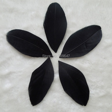 200Pcs/lot!Black trimmed goose feathers,feather petals,black feathers,flower petals,embllishment,millinery feathers