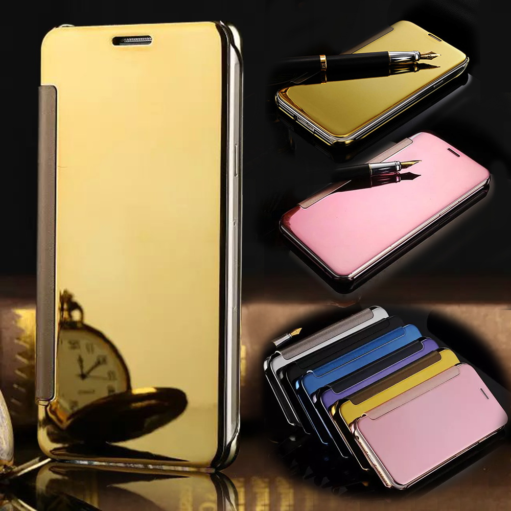 for samsung galaxy a5 case a510f smart sleep view mirror flip leather wallet case for samsung. Black Bedroom Furniture Sets. Home Design Ideas