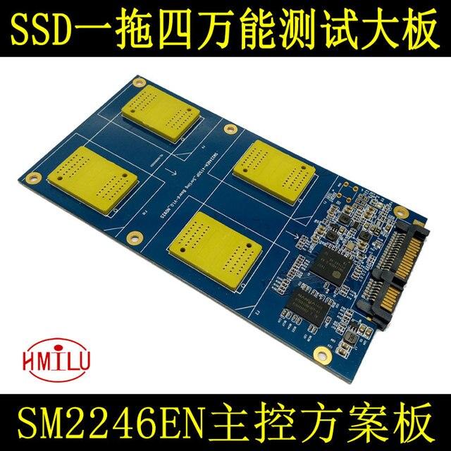 SSD один из четырех универсальный совет тест NAND Flash тест доска SM2246EN мастер тест флэш