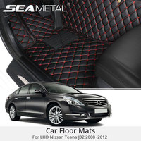For LHD Nissan Teana J32 2012 2011 2010 2009 2008 Car Floor Mats Custom Rugs Auto Interior Foot Mat Pads Accessories Car styling