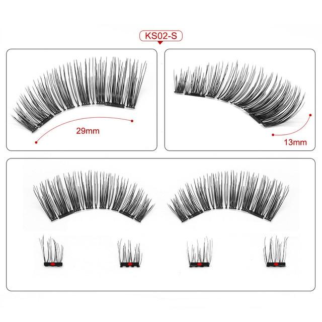 Genailish 3D Magnetic Eyeashes false eyelashes 1 pair 3d eye lashes extension lashes natural custom packaging Box Acrylic SCT05 4