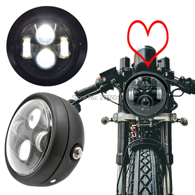 "Universal Round 6 1/2"" Motorcycle LED Headlight HeadLamp"