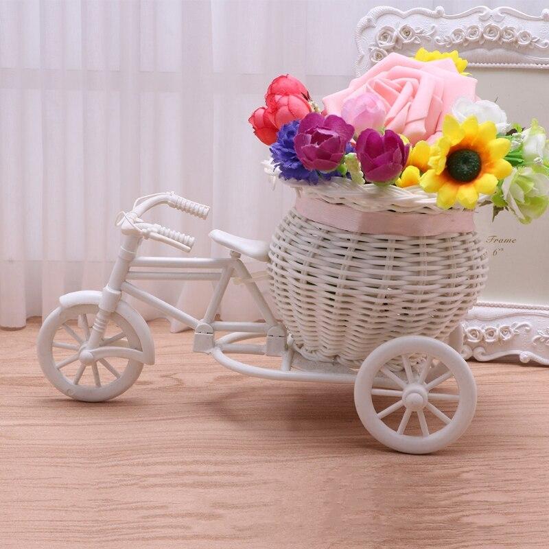 Трехколесный велосипед корзина контейнер Вазы цветочных растений weddingt дома decoration-p101