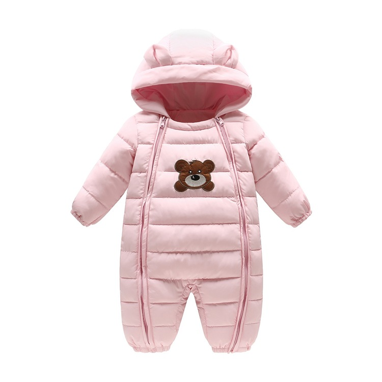 Winter Baby Girl Boy Rompers Parkas coat Suit Children Clothing Romper Newborn Kids Clothes Down Jumpsuit Set gentleman baby boy clothes black coat striped rompers clothing set button necktie suit newborn wedding suits cl0008