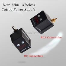 Fonte de alimentação sem fio para tatuagem, mini conector rca/dc para máquina caneta de tatuagem, frete grátisFonte de alimentação p/ tatuagem