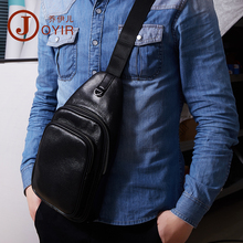 JOYIR Genuine Leather Mens Sling Bag Single Shoulder Men Chest Pack Messenger Crossbody for Man Bolsas Masculina