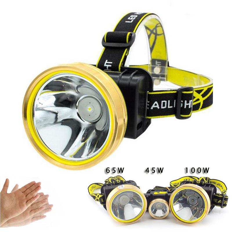 Mini usb recarregável led farol sensor de movimento cabeça luz da lâmpada ao ar livre ciclismo pesca acampamento lanterna tocha lampe frontale