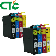 8 Pack T2201 220xl Compatible Ink Cartridge for INK WorkForce WF-2630 WF-2650 WF-2660 WF-2750 WF-2760 t220 220xl ciss combo arc chip for epson wf 2750 wf 2650 wf 2750dwf wf2750 wf2750dwf wf 2650 2660 2760 2750 2750dwf printer