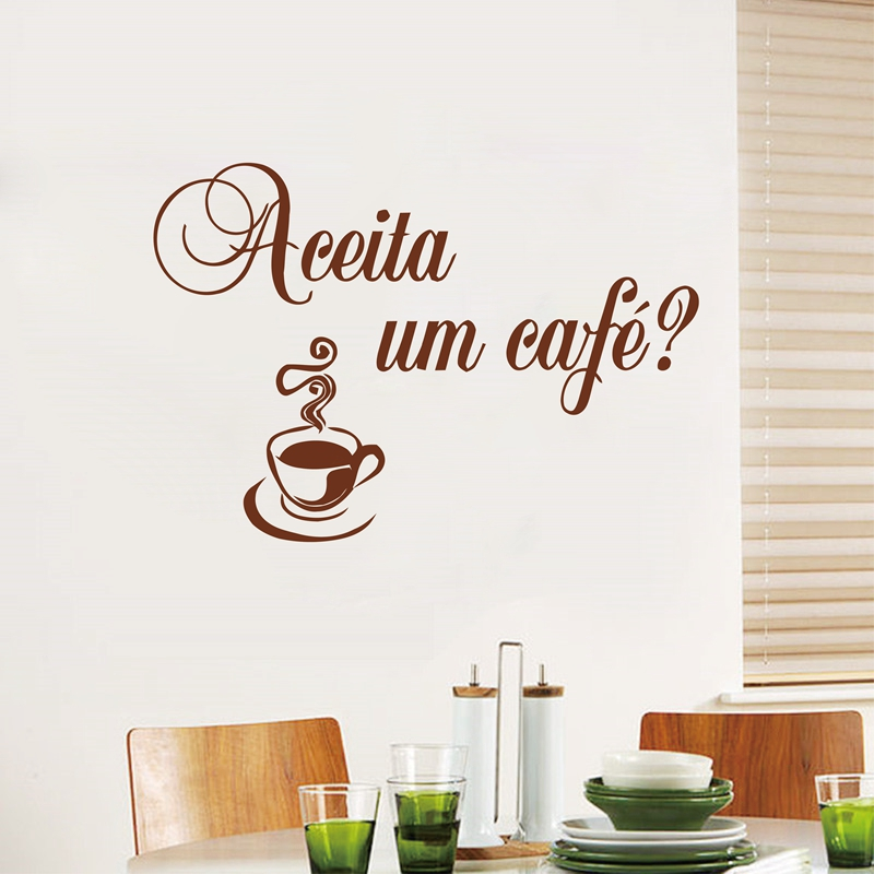 Free shipping modern Portuguese style kitchen wall stickers decor , Amo Eu Cozinhar vinyl waterproof wall decal stickers