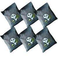 6PCS Air Purifying Bag Home Car Breathe Green Charcoal Bag Air Purifying Odor Eliminator Natural Bamboo Charcoal Captures Bag