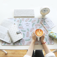 Fashion Leaf Computer Desk Mat Waterproof Keyboard Mat Table Mat For PC Laptop Writing Pad School