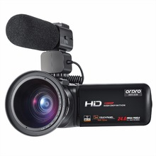 Ordro Video Camera 1080P Full HD Camcorder with Wifi External Rechargeable Microphone Wide Angle Lens Remote Control (HDV-Z20)