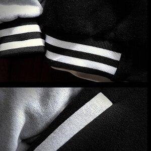 Image 5 - 2020 New Arrival na jedno ramię wygodna strój baseballowy płaszcz mężczyzna Bomber Jacket mężczyźni rękaw ze ściągaczem marki odzież gorąca sprzedaż polar łączone