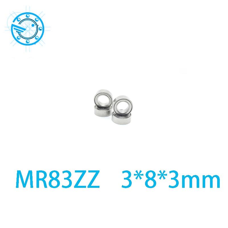 Free shipping 10pcs MR83 MR83Z Miniature Bearings ball bearing 3X8X3 mm 3*8*3 MR83ZZ radial shaft  free shipping 10 pcs 684zz 684z 684 bearings 4x9x4 mm miniature ball bearings l 940zz abec5