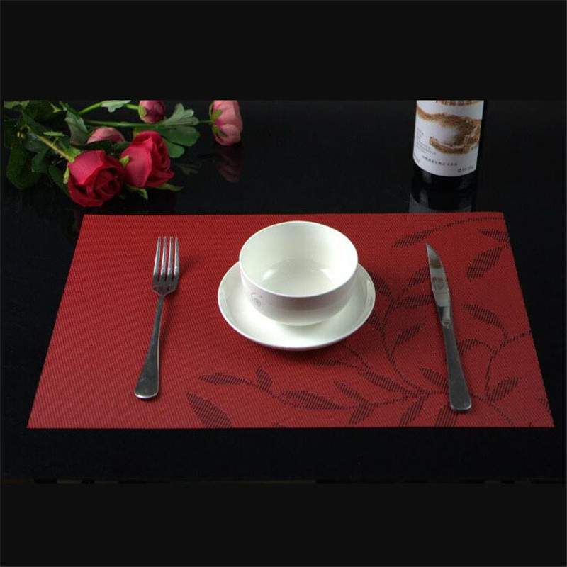 Mrosaa 1Pc Washable Dinner Placemat Dining Food Table Pad Creative Heat Insulation Resistant Anti-skid Eat Mats Tableware Parts