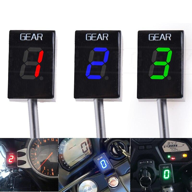 Для Suzuki GSXR600 GSXR750 GSXR1000 GSXR1300 GSX1300R Hayabusa светодиодный Электроника 1-6 уровень Шестерни индикатор Moto Скорость цифровой измеритель
