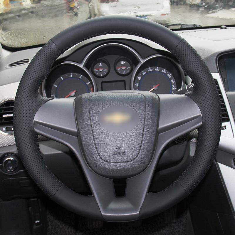 Chevrolet Cruze Aveo üçün BANNIS Qara Süni Dəri DIY Əl ilə - Avtomobil daxili aksesuarları - Fotoqrafiya 4