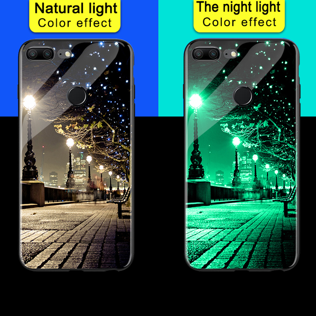 Luminous Starry Sky Space Printed Hard Glass Phone Case