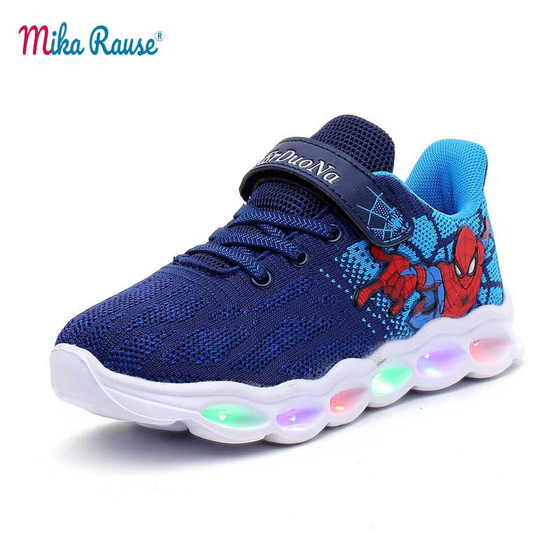 7dee6e0d28a 2019 New tiktok INS spiderman kids led shoes for boys baby sneakers kids  children Fashion comfort