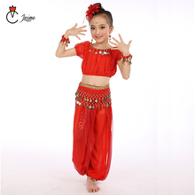 Childrens belly dance set children Indian costumes kids clothes sequins tassel performance clothing 2 pcs and 6