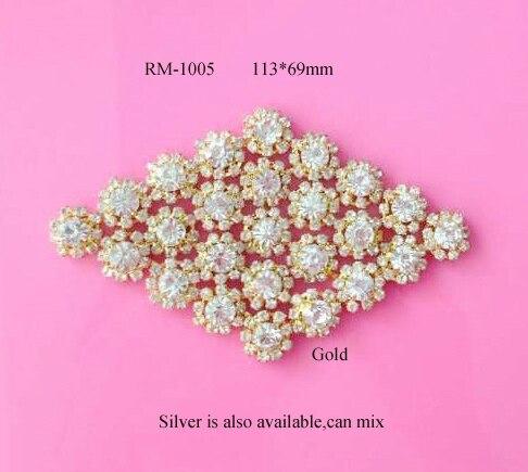 Doprava zdarma 2PCS drahokamový nášlapný křídlo pro svatební svatební šaty, vlasové doplňky mohou kombinovat barvy (RM-1005)