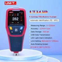 Calibro di spessore, UNI-T UT343D Digitale Tester di Spessore di Rivestimento del Calibro del Tester Rilevatore di Auto Automotive Auto Rivestimento di Vernice Tester del Tester