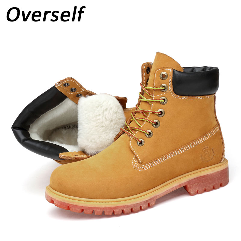Winter Men Fashion Leather Boots Casual Men Warm Leather Moccasin Brand Winter Men Shoes Men Ankle Boots Cowboy Plus Size Boot