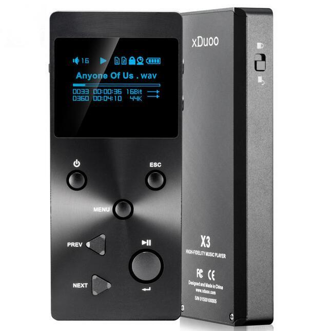 Prix pour 2016 Nouveau XDUOO X3 Professionnel Sans Perte Musique MP3 HIFI Lecteur de Musique avec HD Écran OLED Soutien APE/FLAC/ALAC/WAV/WMA/OGG/MP3
